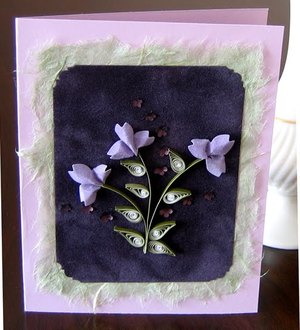 Pretty Lavender Flower Punch Card