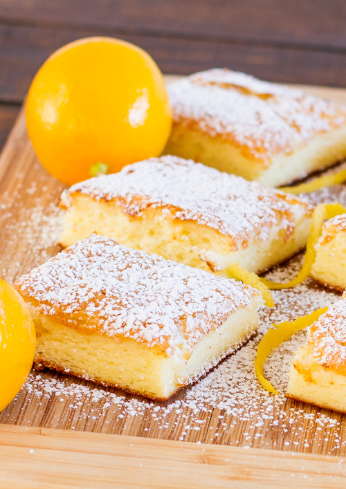 Two-Ingredient Fat-Free Lemon Bars