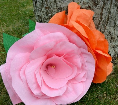 Giant Crepe Paper Flowers Craft
