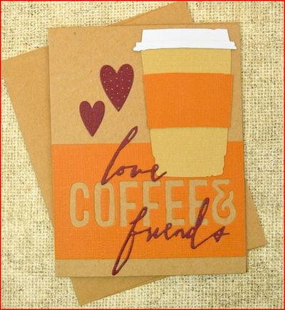 Handmade Card for Coffee Lovers
