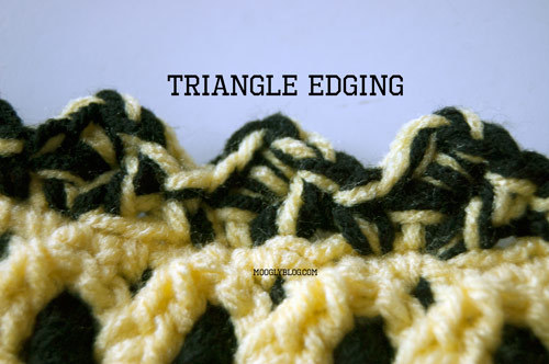 Triangle Crochet Edging