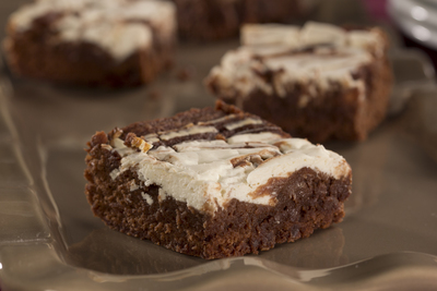 Ooey Gooey Marbled Brownies