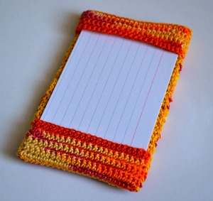 Crochet Index Card Holder
