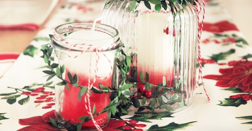 Christmas Candle DIY Centerpiece