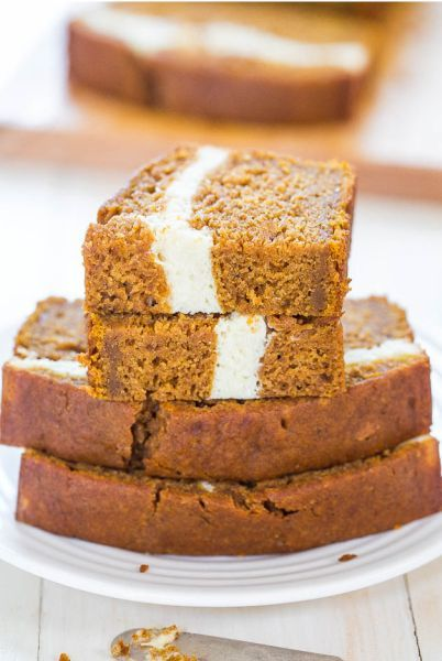 Cream Cheese Filled Pumpkin Bread