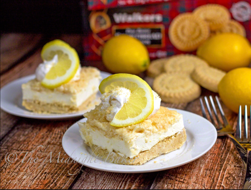 No-Bake Lemon Shortbread Cheesecake