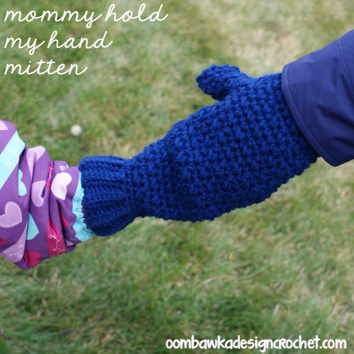 Knitting Pattern For Hand Holding Mittens : Crochet Hand Holding Mitten AllFreeCrochet.com