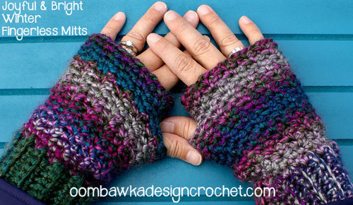 Crochet Fingerless Mittens