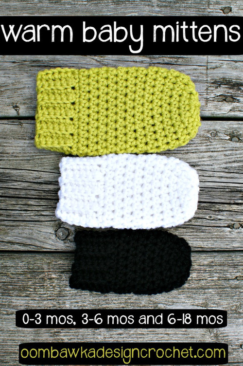 Warm and Cozy Crochet Baby Mittens