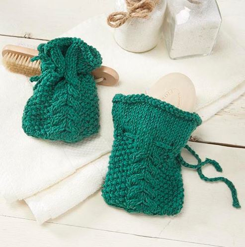 Cable Knit Soap Sachet