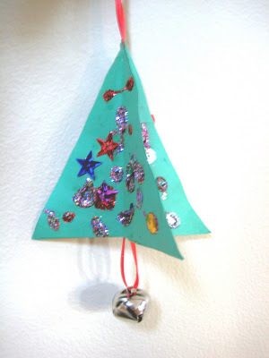 3D Kids Paper Christmas Ornaments