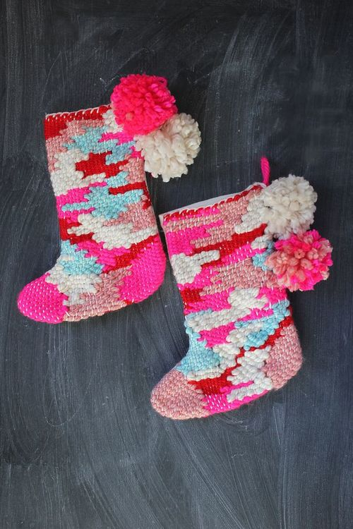 DIY Woven Stockings