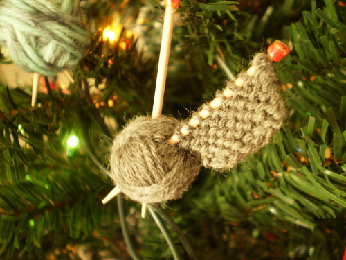 Knitters Handmade Christmas Ornaments
