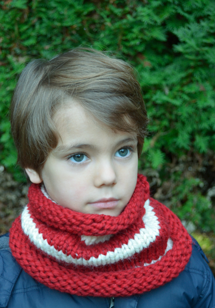 Candy Cane Knit Cowl