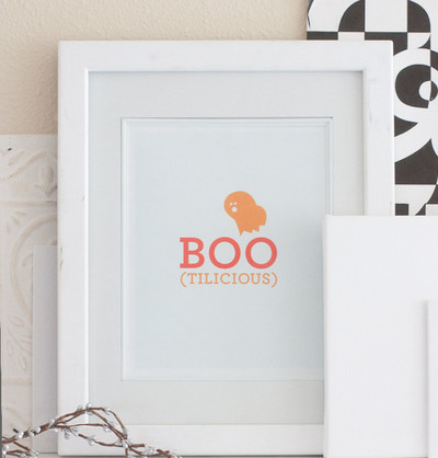 Boo-tiful Free Halloween Printable Wall Art