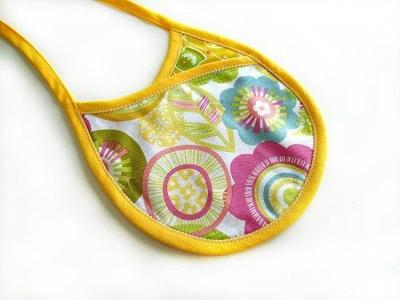 Reversible Crossover Baby Bib Pattern