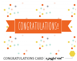 image relating to Congratulations Card Printable titled Printable Congratulations Card