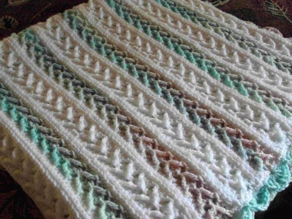 Arrow Stitch Afghan