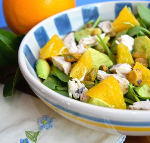 Chicken Spinach Salad with Citrus Vinaigrette