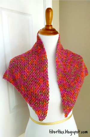 Flower Garden Crochet Shawl