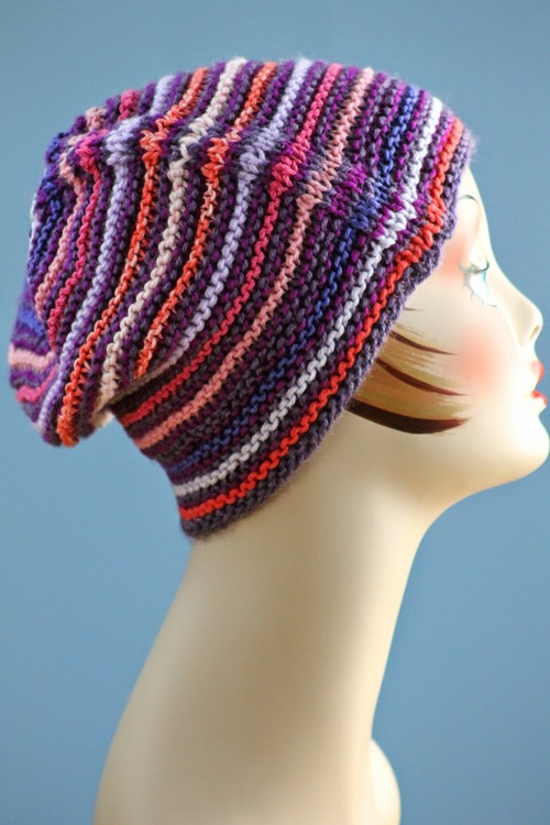 Knitting Pattern Hat Cast On : Nom Nom Garter Stitch Hat AllFreeKnitting.com
