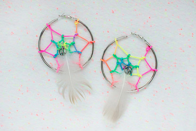 Rainbow Dreamcatcher DIY Earrings