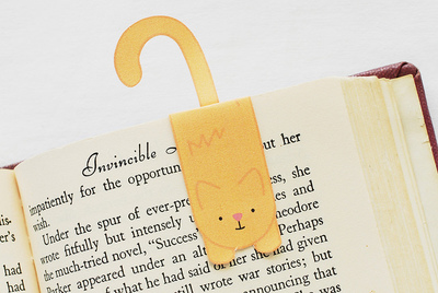 Magnetic Printable Cat Bookmark