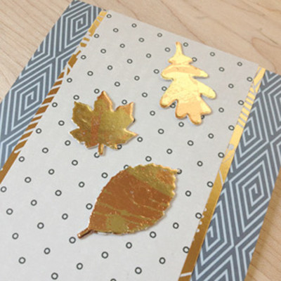 Shimmering DIY Metallic Foil Leaves