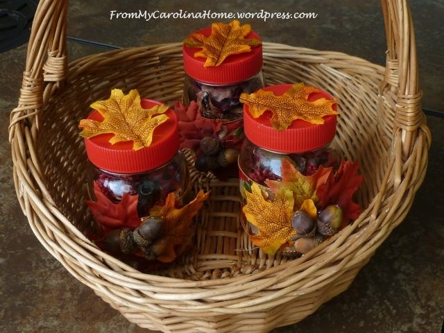 Autumn Themed Mason Jar Table Centerpieces Favecrafts Com