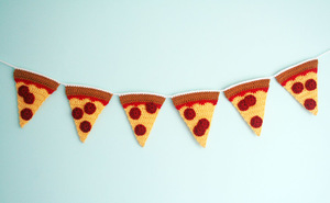 Crochet Pepperoni Pizza Garland