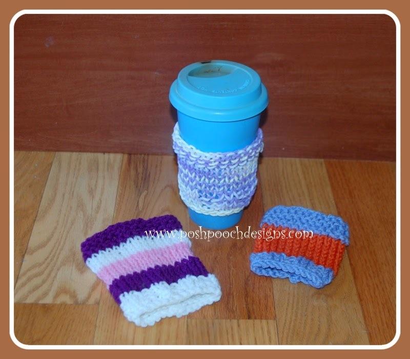 Coffee Cozy Knit Pattern : Easy Knit Coffee Cozy Pattern AllFreeKnitting.com