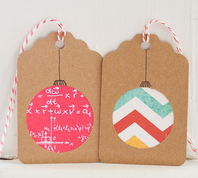 Festive Ornament Holiday Gift Tags