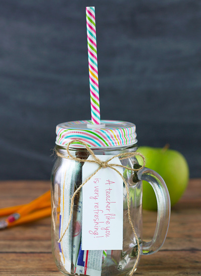 Teacher Appreciation Day Goodie Jar
