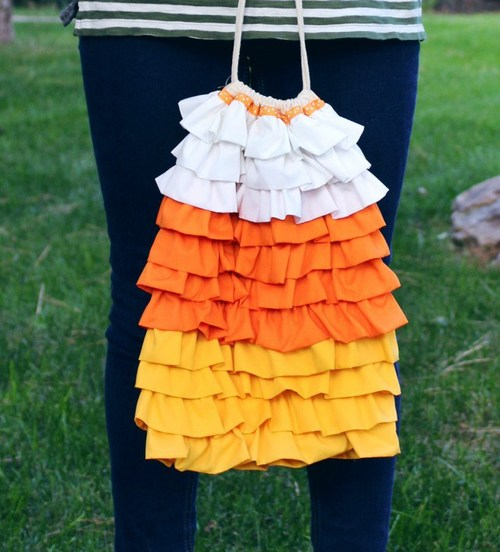 Ruffle Candy Corn Bag