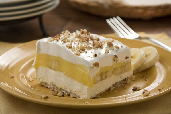 Bananas and Cream Squares