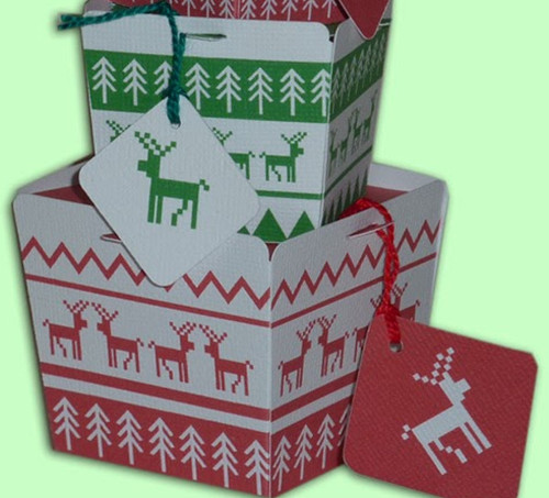 Reindeer DIY Ski Sweater Gift Boxes