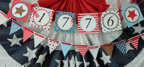 Classic Fourth of July Banner Tutorial