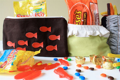 DIY Zippered Candy Pouch
