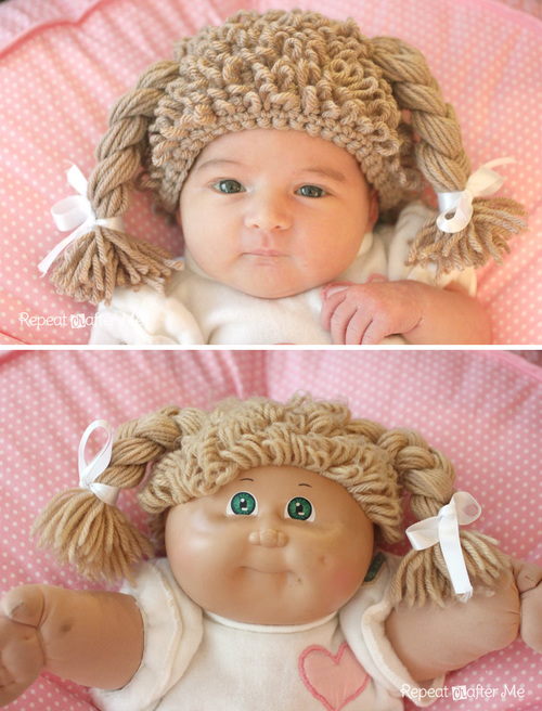 Cabbage Patch Doll Crochet Baby Wig