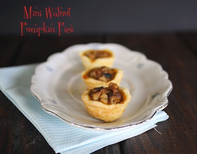 Mini Walnut Pumpkin Pies