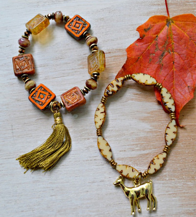 Rustic DIY Statement Bracelets