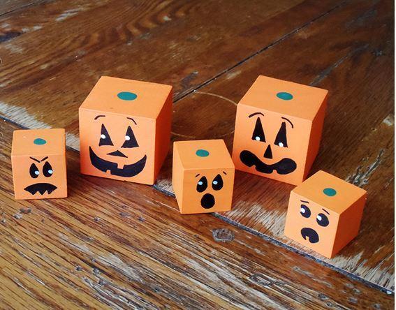 Jack o lantern wooden blocks for Large wooden blocks for crafts
