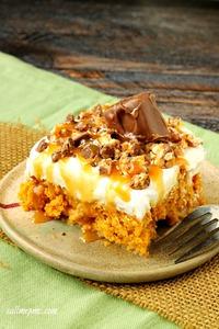 Skinny Pumpkin Poke Cake
