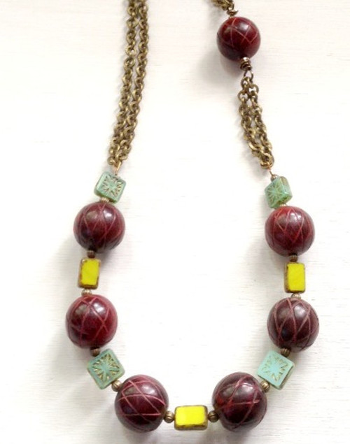 Boho Chic Bead and Chain DIY Necklace
