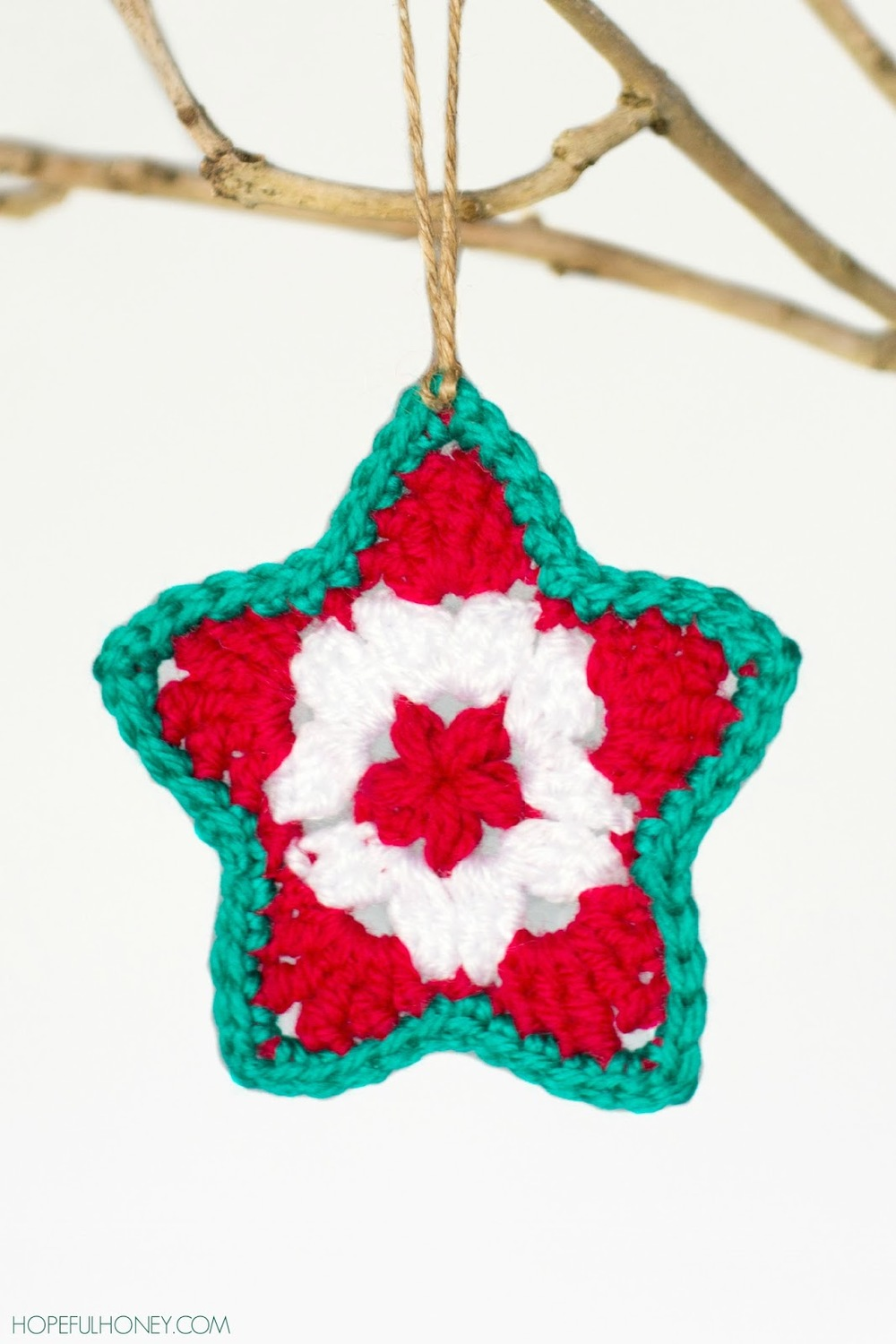 Star Christmas Ornament Crochet Pattern | FaveCrafts.com