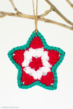 Star Christmas Ornament Crochet Pattern