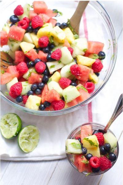 healthy fruit salads fruit wreath