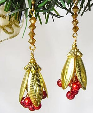 Berry Festive Christmas DIY Earrings