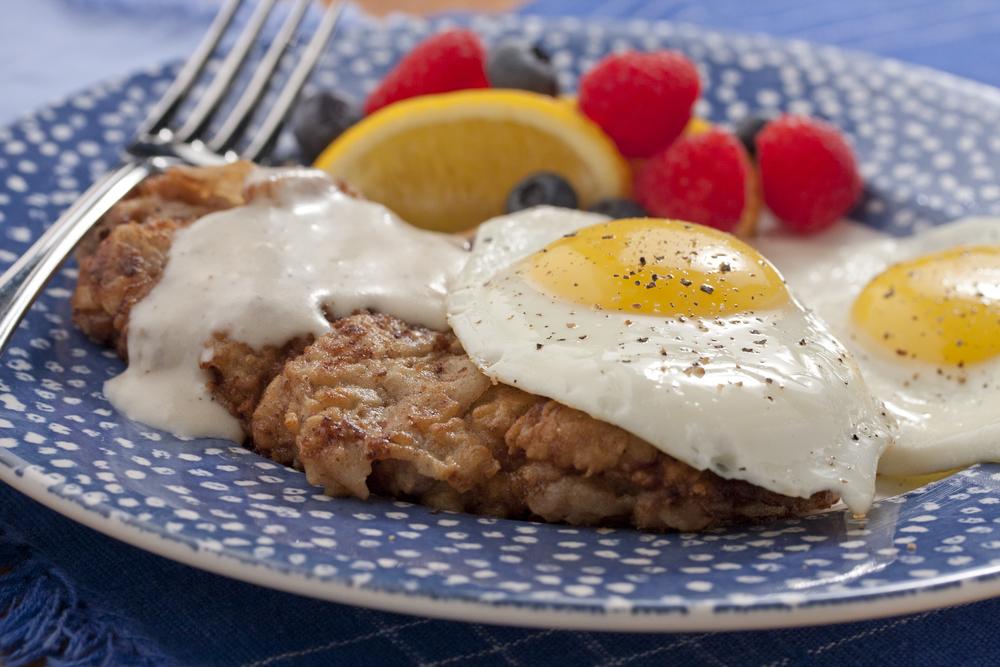 Country Fried Steak Amp Eggs Mrfood Com