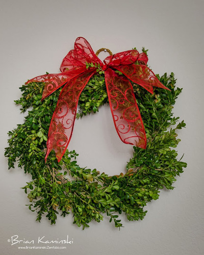 DIY Holiday Boxwood Wreath